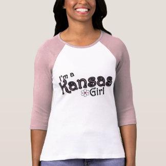 I'm a Kansas Girl, Flower, Pink T-Shirt