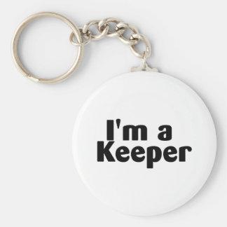 Im A Keeper Basic Round Button Keychain