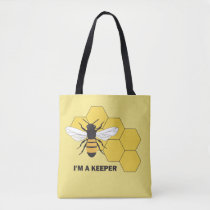 Im a Keeper Beekeeper Bee Save the Bees AOP Tote
