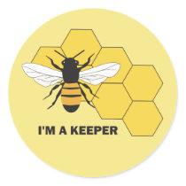 Im a Keeper Beekeeper Save the Bees Sticker