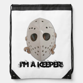 I'M A KEEPER DRAWSTRING BAG