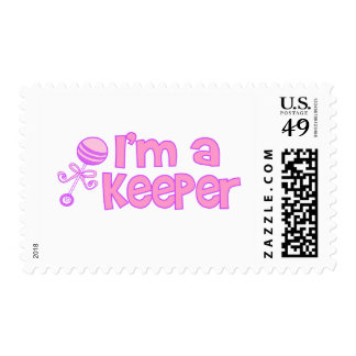 I'm a keeper (new baby girl) stamps