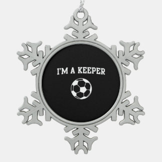 I'm a Keeper Snowflake Pewter Christmas Ornament