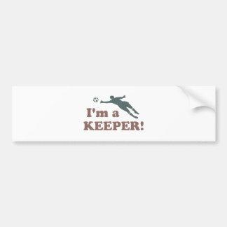 I'm a Keeper Soccer Goalie Bumper Sticker
