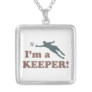 I'm a Keeper Soccer Goalie Necklace
