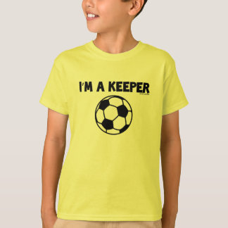 IM A KEEPER- SPORTY SLANG- SOCCER KIDSS TEE