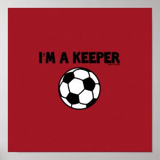 I'M A KEEPER - SPORTY SLANG - SOCCER POSTER