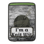 I'm a Knit Wit: A Creative Motivational MacBook Air Sleeves