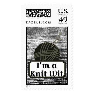 I'm a Knit Wit: A Creative Motivational Postage Stamp