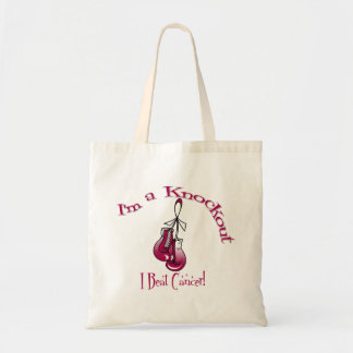 I'm A Knockout I Beat Head and Neck Cancer Canvas Bag