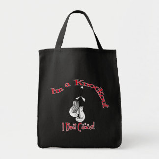 I'm A Knockout I Beat Lung Cancer Canvas Bags