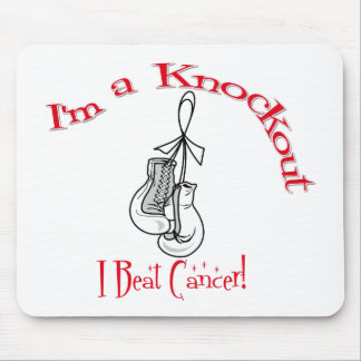 I'm A Knockout I Beat Lung Cancer Mousepad