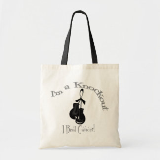I'm A Knockout I Beat Skin Cancer Tote Bags