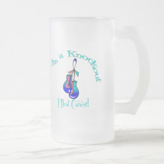 I'm A Knockout I Beat Thyroid Cancer 16 Oz Frosted Glass Beer Mug