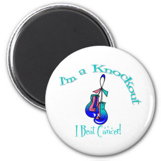 I'm A Knockout I Beat Thyroid Cancer 2 Inch Round Magnet