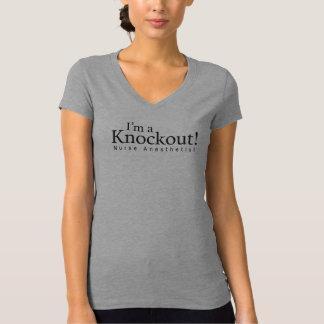 I'm a knockout! Nurse Anesthetist, black imprint Tee Shirt
