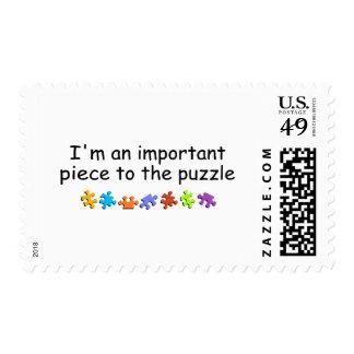 Im a la pieza del rompecabezas importante sellos