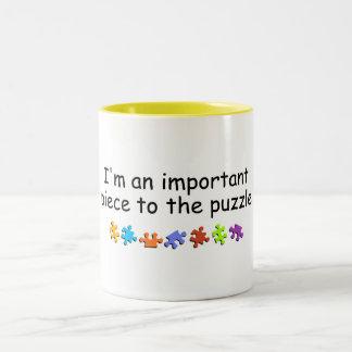 Im a la pieza del rompecabezas importante taza de dos tonos