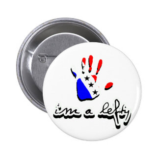 I'm a lefty. 2 inch round button