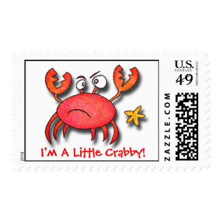 I'm A Little Crabby! Postage Stamp