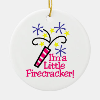 Im a Little Firecracker Ceramic Ornament
