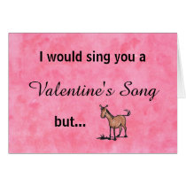 I'm a little horse Valentine's Day Card