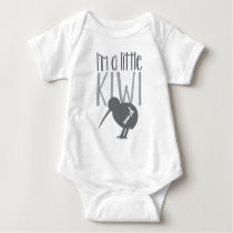 I'm a little kiwi with cute New Zealand bird Baby Bodysuit