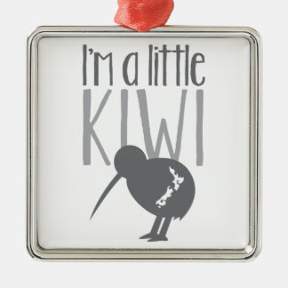 I'm a little kiwi with cute New Zealand bird Square Metal Christmas Ornament
