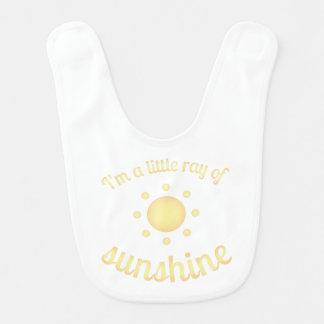 """I'm a little ray of sunshine"" Baby Bib"