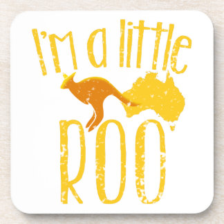 I'm a little roo baby maternity cute design beverage coaster