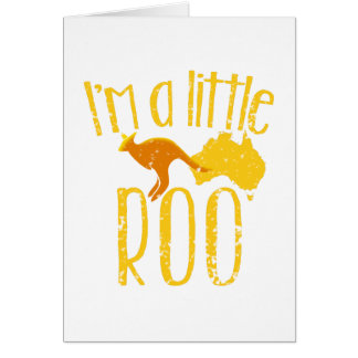 I'm a little roo baby maternity cute design card