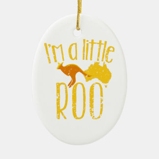 I'm a little roo baby maternity cute design ceramic ornament