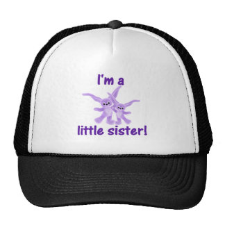 I'm a little sister (purple bunnies) trucker hat