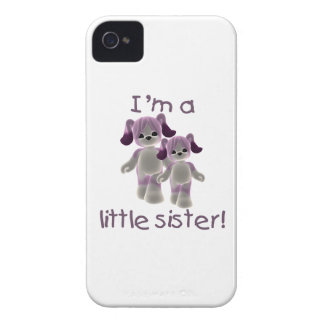 I'm a little sister (purple puppies) iPhone 4 cases