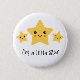 Im a little star cute kawaii cartoon stars button
