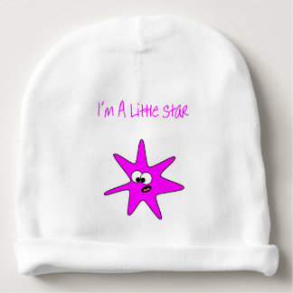 I'm a little star - wink baby beanie