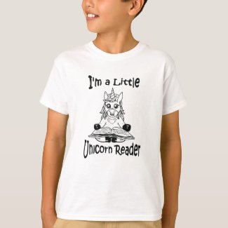 I'm A Little Unicorn Reader Youth Tee Shirt - BL