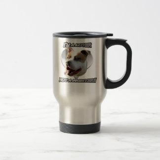 I'm a lover not a fighter pitbull mug
