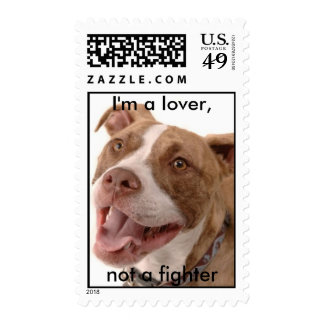 I'm a lover, not a fighter postage