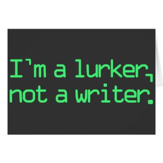 I'm a Lurker Card