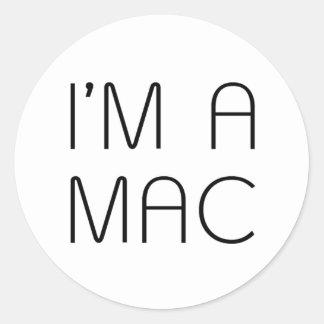 im a mac classic round sticker