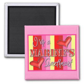 """I'm A Marine's Sweetheart"" Magnet"