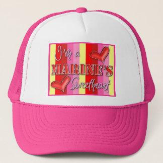 """I'm A Marine's Sweetheart"" Trucker Hat"