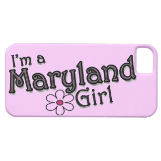 I'm a Maryland Girl, Flower, Pink iPhone Cover