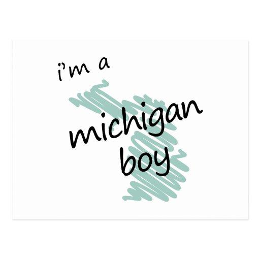I'm a Michigan Boy Postcard