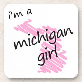 I'm a Michigan Girl Drink Coaster