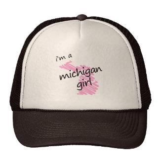I'm a Michigan Girl Trucker Hats