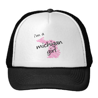 I'm a Michigan Girl Hats