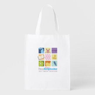 """""""I'm a Michigan Scrapbooker"""" reusable bag! Reusable Grocery Bag"""