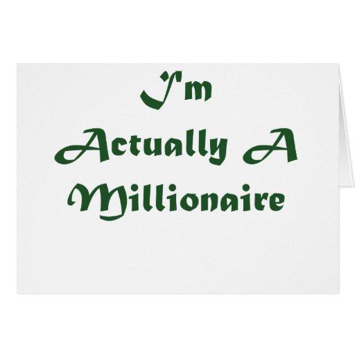I'm A Millionaire Card